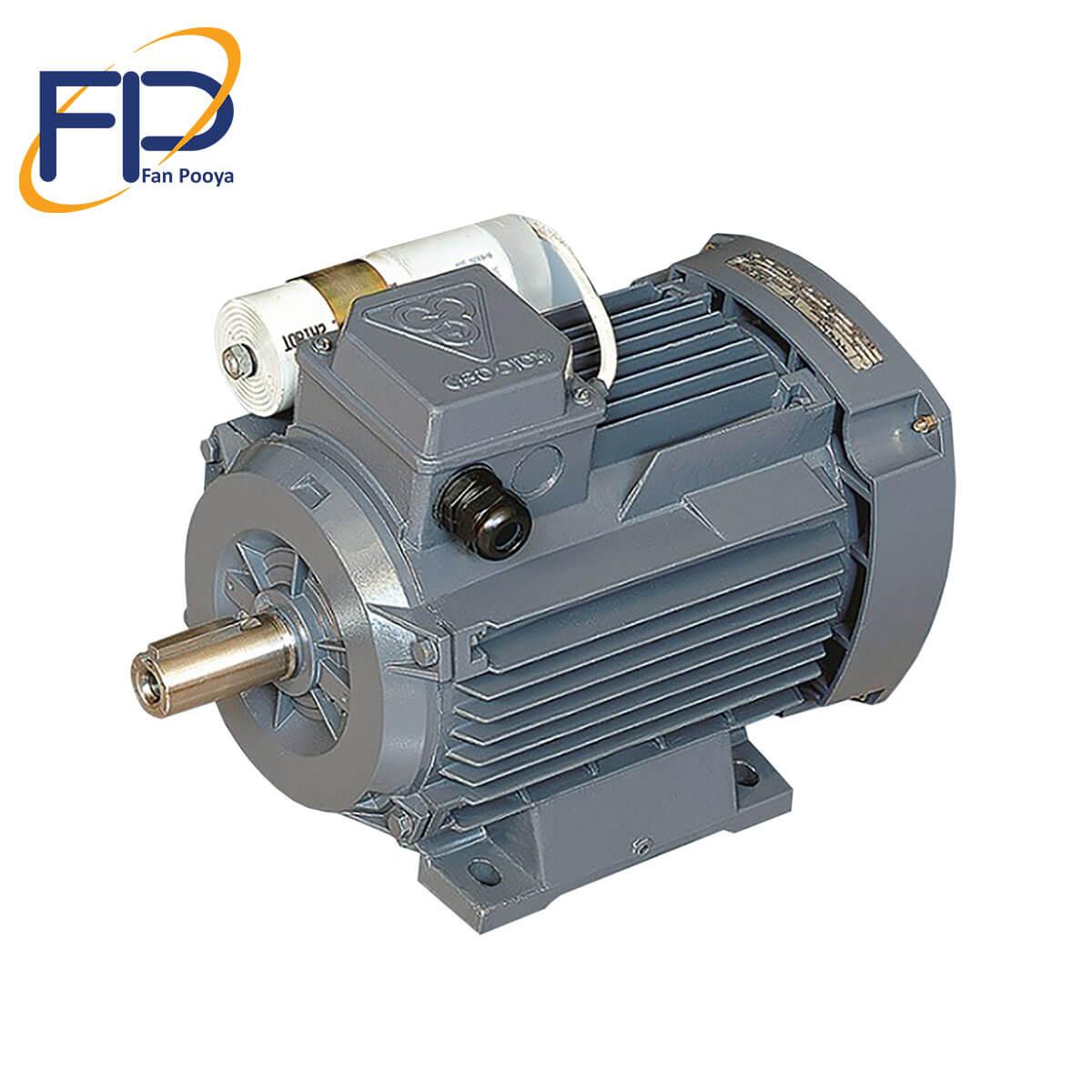 الکتروموتورموتوژن خازن داردائم(CR)بافرم آلومینیومی قدرت0.75kw کیلو وات 1500دور