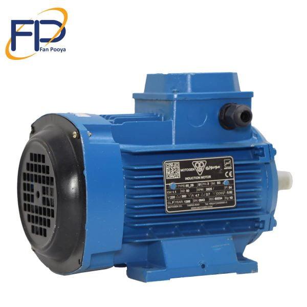 الکترو موتور موتورژن قدرت 0.12kw کیلو وات1500 دور